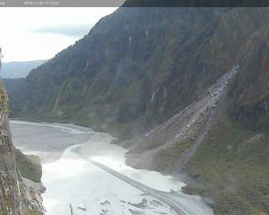 Footage from the Department of Conservation webcam shows the extent of the damage at Fox Glacier....