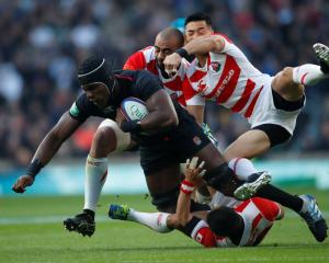 England's Maro Itoje in action against Japan. Photo: Action Images via Reuters