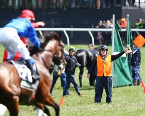Eventual winner Kerrin McEvoy riding Cross Counter is guided away from The Cliffsofmoher during...