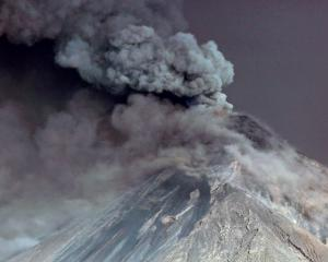 Steam rises from Fuego volcano in Guatemala. Photo: Reuters