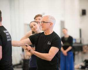 American choreographer Val Caniparoli works with RNZB dancers. Photos: Stephen A'Court