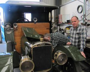 The sole surviving World War 1 Rover Sunbeam ambulance is prepared for the 100th anniversary of...