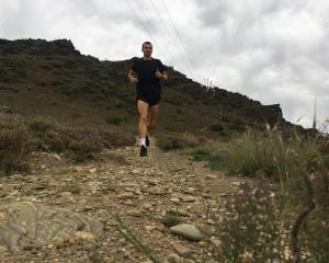 Daniel Balchin trains in Alexandra this week  for today's Queenstown Marathon. Photo: Supplied