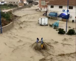 A street is seen during a flooding in Sciacca, Sicily. Photo: Giancarlo Fauci via Reuters