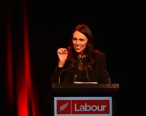Prime Minister Jacinda Ardern delivers the opening address at the Labour Party conference in the...