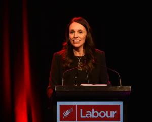 Prime Minister Jacinda Ardern speaking at the Dunedin Labour Party conference this evening. Photo...