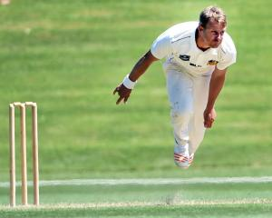 New Zealand pace bowler Neil Wagner in action for Otago against Central Distrcits at the...