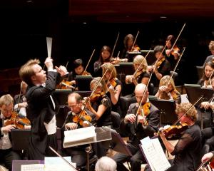 New Zealand Symphony Orchestra music director Pietari Inkinen in action. PHOTO: PATRYCJA...