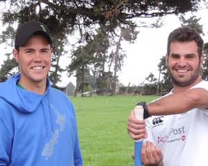 Francois Mostert (left) and Stephan Grobler. Photo: Sally Brooker