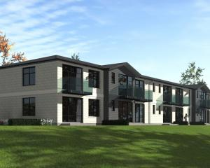 A drawing of the first two-storey apartment complex  being built at Observatory Village Lifecare...