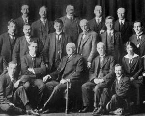 The newly-formed Photographers' Association of Otago and Southland. Back row (from  left): J....