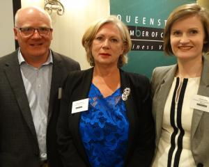 (From left) Queenstown Chamber of Commerce chairman Craig Douglas, chief executive Ann Lockhart...