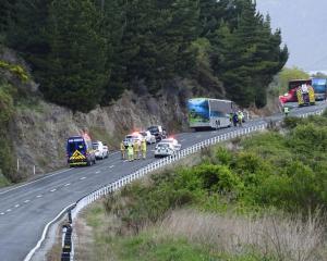 The scene of a recent crash near the Devil's Staircase, SH6. Photo: File