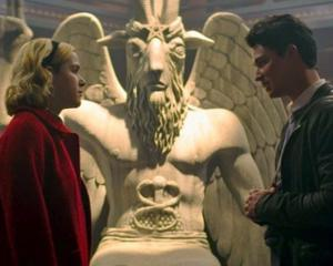 The Satanic Temple has settled its copyright lawsuit against Netflix Inc and Warner Bros Entertainment over their alleged misuse of its goat-headed deity statue in the series Chilling Adventures of Sabrina. Photo: Twitter