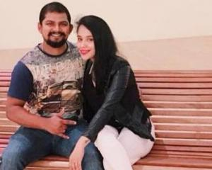 Sagar and Sonam Shelar were married in December and she moved to New Zealand in April. Photo:...