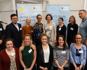Members of the University of Otago School of Physical Education Beats rural study team gather at...
