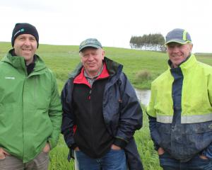 Taking part in one of the sediment mitigation field days at Waipahi held by the Pomahaka...