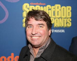Stephen Hillenburg (creator of 'Spongebob') poses at the opening night arrivals for the new...