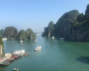 Vietnam's Halong Bay is popular with tourists.
