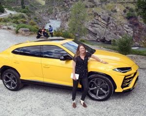 Motoring reporter Catherine Pattison takes a ride in a Lamborghini Urus. Photo: Stephen Jaquiery