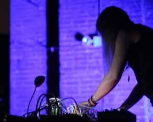 Zaimph, the solo project of New York-based musician Marcia Bassett, plays at Blue Oyster Art...