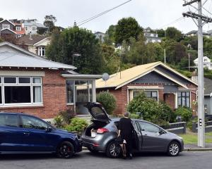 Three houses in Motu St were evacuated last week. Photo: ODT