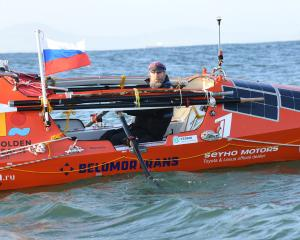 Russian rower Fedor Konyukhov is celebrating his 67th birthday today, while rowing across the...