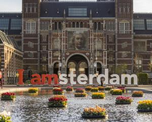 The giant letters were removed from their place in front of the Rijksmuseum this week after they...