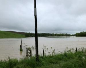 Floodwater at Braintra Farms. Photo: RNZ