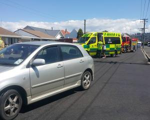 Emergency services were called to a crash in St Kilda this afternoon. Photo: George Block