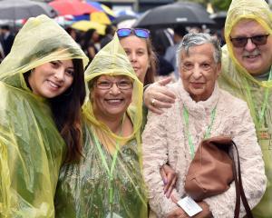 Australian cruise ship passengers (from left) Samantha Lloyd, mother Natalie Lloyd, family member...