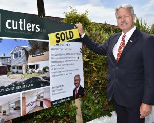 Cutlers real estate agent Bob Griffiths and a recent sale in the city. Dunedin real estate agents...