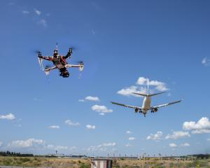 A drone flying near an airport. Photo: Getty Images