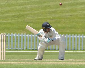 Otago Volts batsman Josh Finnie goes under a bouncer bowled by Canterbury paceman Andrew...