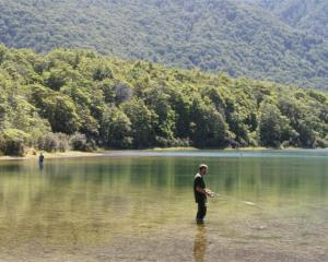 Fly fishing in the pristine waters of South Mavora Lake.
