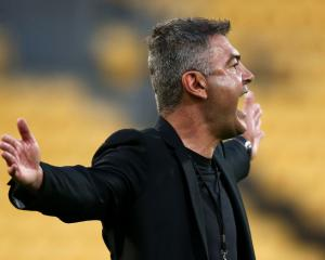 Phoenix coach Mark Rudan gestures during the match. Photo: Getty