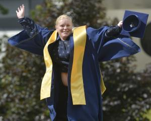 Kathy Howard (31) prepares to graduate from Otago Polytechnic. PHOTO: GERARD O'BRIEN