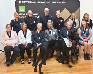 Otago Kiwibank Local Heroes (back, from left) Rosalie Goldsworthy, Alan Green, John Darby, Dr...