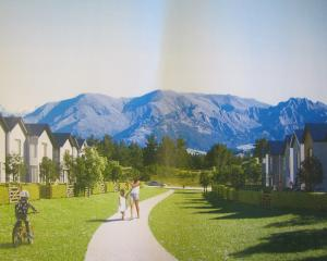 An artist's impression of 20 terrace houses proposed for Wanaka's Northlake special zone. Image:...