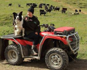 Jo Scott enjoys spending time on the  family farm on the outskirts of Oamaru. Photo: Supplied