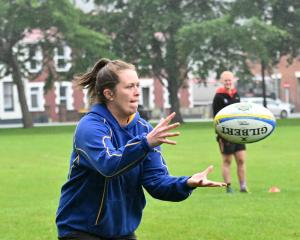 Otago sevens player Julia Gorinski at Otago sevens training at North Ground earlier this week....