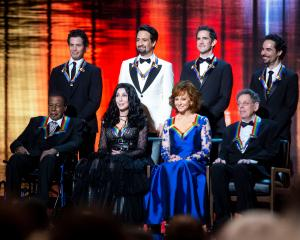 "2018 Kennedy Center honorees, back row from left, the co-creators of ""Hamilton,"" Thomas Kail, Lin..."