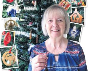 Louise Primrose, of Wanaka, has collected Christmas decorations from all over the world. Photo:...