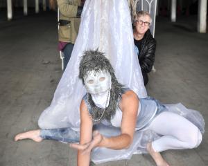 Dunedin Midwinter Carnival Summer Lights event organisers (from left) artistic director Hannah...
