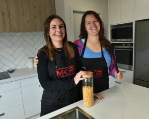 My Kitchen Rules New Zealand finalists Jess Mackay (left) and Cindy Holmes await the upcoming...
