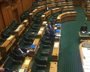 Most National MPs walked out of Parliament after Simon Bridges was ordered to leave during...