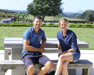 Ben and Nicola Smith enjoy the Bay of Plenty sunshine.PHOTO: SUPPLIED