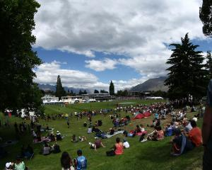A view from the bank at the 2013 national sevens tournament in Queenstown. Photo: Getty Images