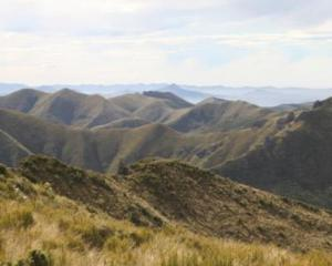 The wilds of the Silver Peaks, near Dunedin.
