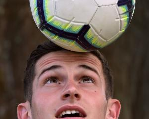 Southern United player Tony Whitehead practises at the University Oval on Thursday. Photo: Peter...